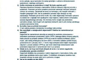 Kamnolom Griža – odgovori na vprašanja postavljena na sestanku z dne 25.8.2020 v Kubedu