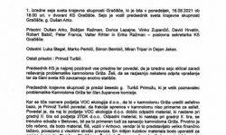 Izredna seja sveta KS Gračišče – dne 16.8.2021